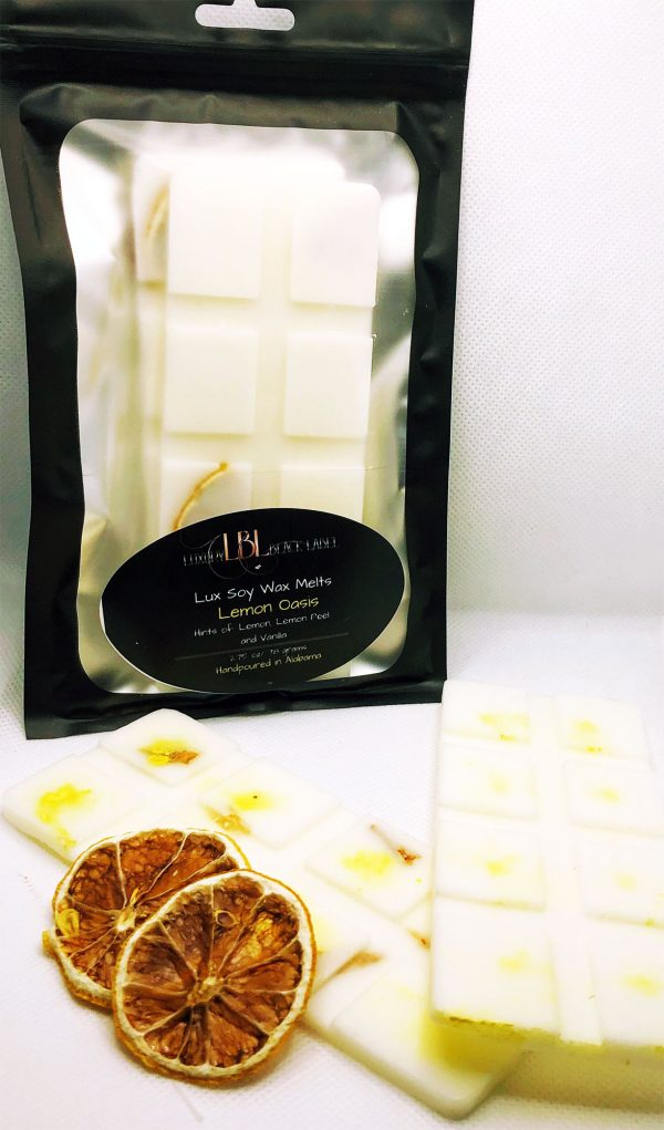 Lemon Oasis Soy Wax Melts - Luxury Black Label - 2